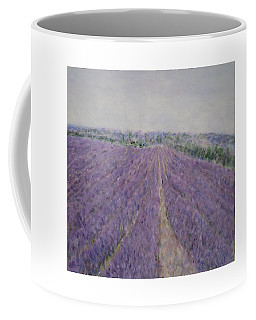 Lavender Crop In Burgundy France Coffee Mug