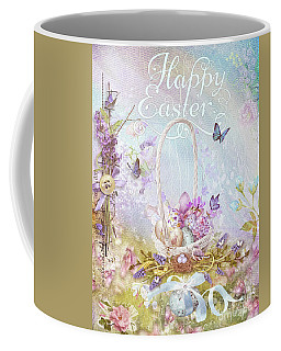 Coffee Mug featuring the mixed media Lavender Easter by Mo T