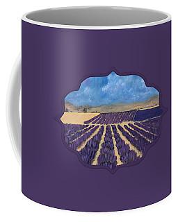 Coffee Mug featuring the painting Lavender Field by Anastasiya Malakhova