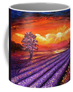 Lavender Field At Sunset Coffee Mug
