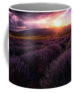 Lavender Field At Sunset Coffee Mug