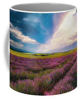 Lavender Field Panorama Coffee Mug