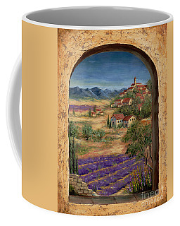 Lavender Fields And Village Of Provence Coffee Mug