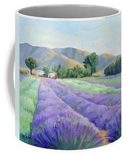 Lavender Lines Coffee Mug by Sandy Fisher