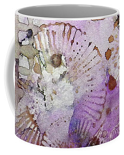 Coffee Mug featuring the painting Lavender Mornings Ink #6 by Sarajane Helm
