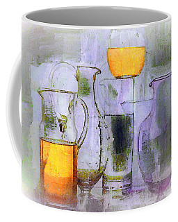 Lavender Orange Glass Coffee Mug by Lisa Kaiser