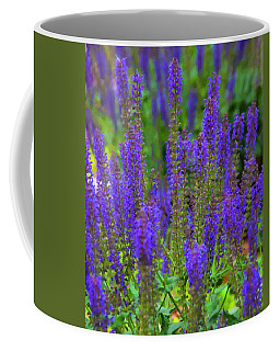 Coffee Mug featuring the digital art Lavender Patch by Chris Flees