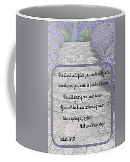 Lavender Path With Scripture Art Isiah 58 Coffee Mug by Valerie Garner