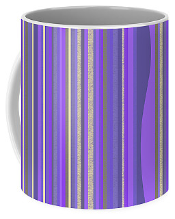 Lavender Random Stripe Abstract Coffee Mug
