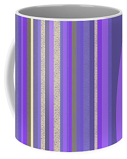 Coffee Mug featuring the digital art Lavender Random Stripe Abstract by Val Arie