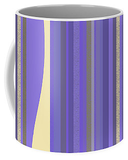 Coffee Mug featuring the digital art Lavender Twilight - Stripes by Val Arie