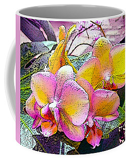 Lavender / Yellow  Coffee Mug
