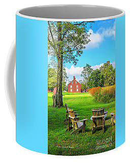 Coffee Mug featuring the photograph Adirondack Chair Viewing by Richard J Thompson