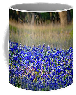 Coffee Mug featuring the photograph Layers Of Blue by Linda Unger