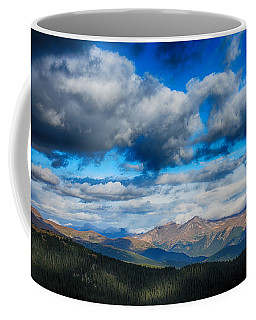Layers Of Clouds On Mount Evans Coffee Mug