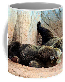 Lazy Bears Coffee Mug by Sheila Brown