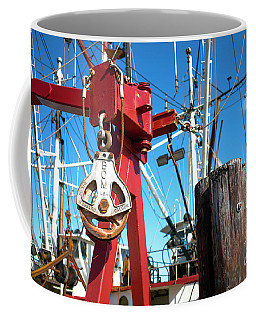 Coffee Mug featuring the photograph Lbi Boat Chain by John Rizzuto