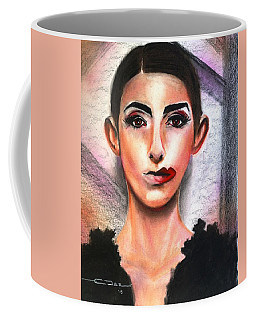 Coffee Mug featuring the pastel Le Ministre Des Feministes by Eric Dee