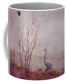 Coffee Mug featuring the photograph Le Retour De Mon Heron by Aimelle