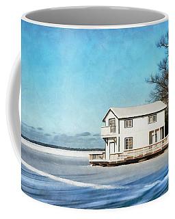 Leacock Boathouse In Winter Coffee Mug