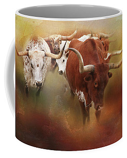 Coffee Mug featuring the photograph Leading The Herd by Toni Hopper