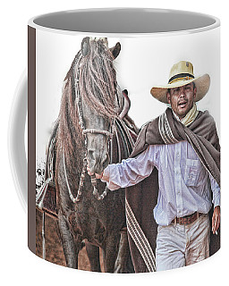 Leading To Competition Peruvian Horse Coffee Mug by Toni Hopper