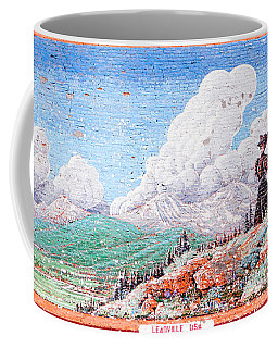 Coffee Mug featuring the photograph Leadville Colorado Vintage Billboard by Marilyn Hunt