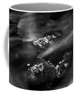 Leaf Island In Black And White Coffee Mug