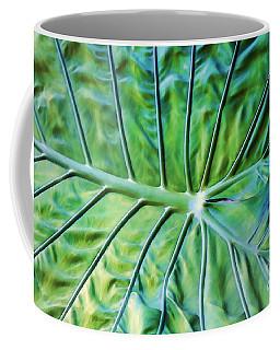 Leaf Pattern Coffee Mug