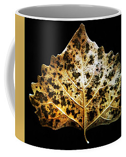 Coffee Mug featuring the photograph Leaf With Green Spots by Joseph Frank Baraba