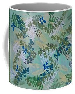 Leafy Floor Cloth - Sold Coffee Mug by Judith Espinoza