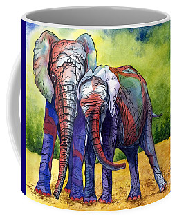 Coffee Mug featuring the painting Lean On Me by Barbara Jewell