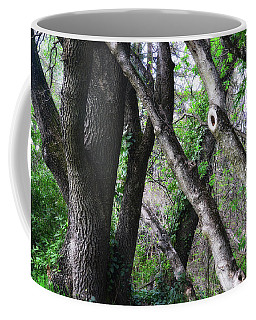 Lean On Me Coffee Mug by Donna Blackhall