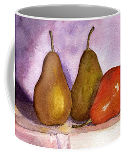 Leaning Pear Coffee Mug