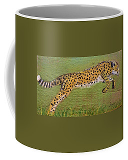 Leaping Cheetah Coffee Mug by Ann Michelle Swadener