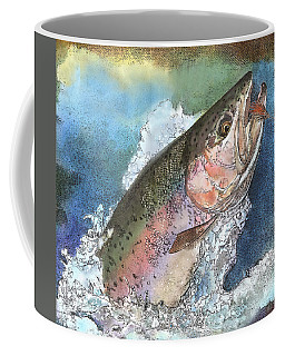 Leaping Rainbow Trout Coffee Mug