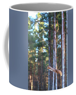 Leaping Red Squirrel Tall Coffee Mug