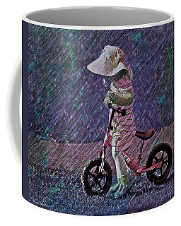 Learning To Ride Coffee Mug by Suzanne Stout