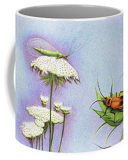 Coffee Mug featuring the drawing Leather And Lace... For The Gardeners by Danielle R T Haney