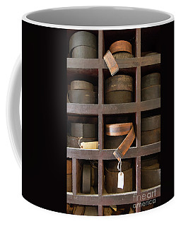 Leather Belt Storage At An Old Mill Coffee Mug