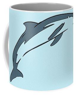 leather Dolphin Coffee Mug