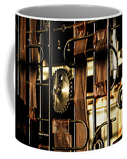 Leather Straps At The Harley Davidson Museum Coffee Mug