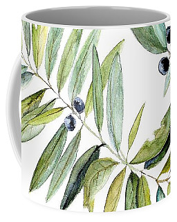 Coffee Mug featuring the painting Leaves And Berries by Laurie Rohner