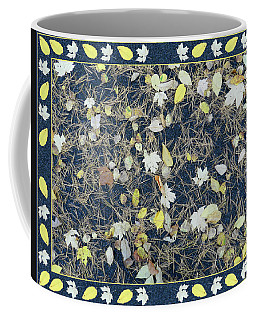 Leaves And Needles On Pavement With Border Coffee Mug