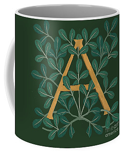 Leaves Letter A Coffee Mug