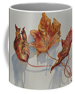 Coffee Mug featuring the painting Leaves Of Fall by Mary Haley-Rocks