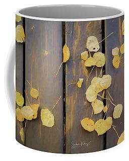 Leaves On Planks Coffee Mug
