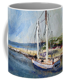 Leaving Sesuit Harbor Coffee Mug