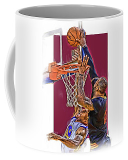 Lebron James Cleveland Cavaliers Oil Art Coffee Mug