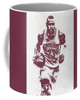 Lebron James Cleveland Cavaliers Pixel Art 4 Coffee Mug